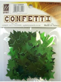 Star Confetti - Green - Medium