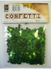 Star Confetti - Green - Extra Small