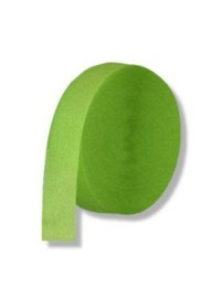 Light Green Crepe Streamers (10)