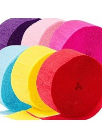 Assorted Crepe Streamers (10)
