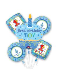 First Birthday Boy Balloon Bouquet