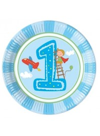 Boy's First Birthday Plates (8)