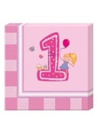 Girl's First Birthday Napkins (20)