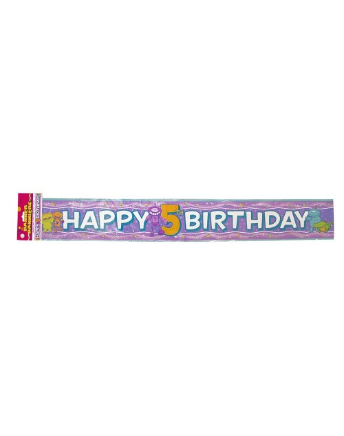5th Happy Birthday Aliens Banner