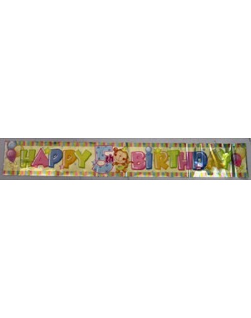5th Happy Birthday Foil Banner