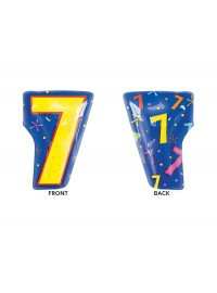 Number 7 Jr Shape Foil Balloon