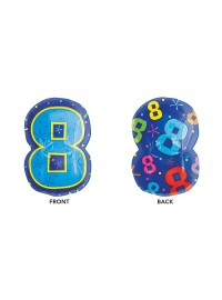 Number 8 Jr Shape Foil Balloon