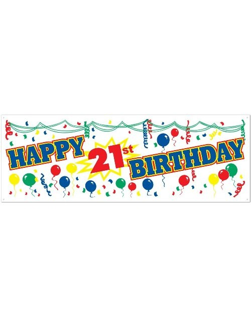 21st Birthday Banner - Large