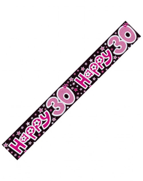 30th Happy Banner - Pink