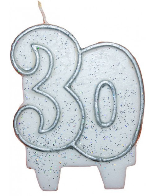 30 Candle Silver