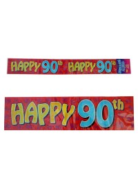 90th Happy Banner