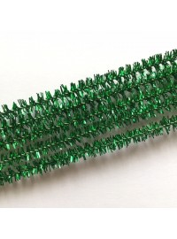 Pipecleaner - Green Glitter (5)