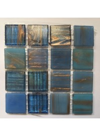 Two-Tone Tiles - Blue/Gold