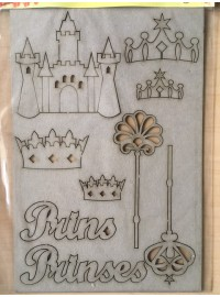 Chipboard Prinses Set