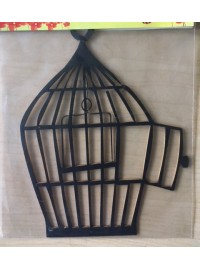 Birdcage Design 2 - Thin Black Wood