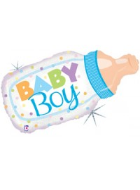 Baby Boy Bottle Large Foil Balloon