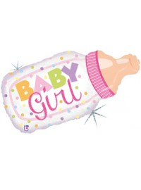 Baby Girl Bottle Large Foil Balloon