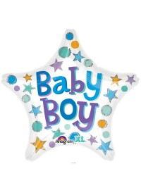 Baby Boy Star Foil Balloon