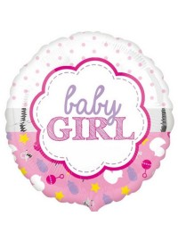 Baby Girl Scallop Foil Balloon