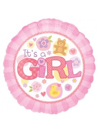 "It's a Girl 17"" Foil Balloon"