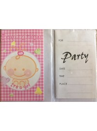 It's a Girl Baby Shower Invitations (6)