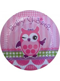 Owl Baby Shower Plates (6)