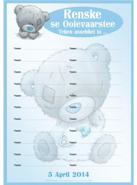 Tatty Teddy Blue Attendance Register