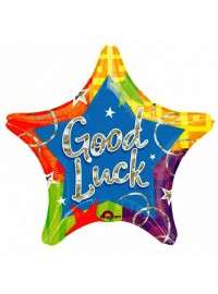 Good Luck Star Shape Foil Balloon