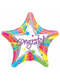 Congrats Star Shape Foil Balloon