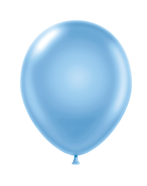 Metallic Balloon - Baby Blue