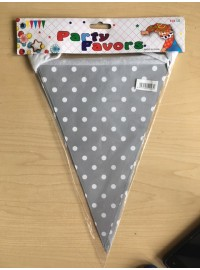 Flag Banner - Grey Polkadot