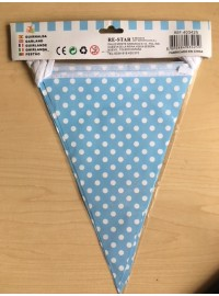 Flag Banner - Light Blue Polkadot