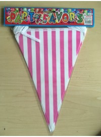 Flag Banner - Pink Stripes