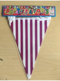 Flag Banner - Purple Stripes