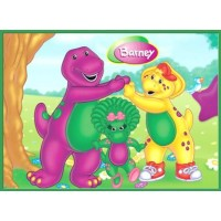 Barney Meal Box / Bucket Sticker