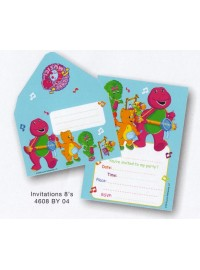 Barney Band Invitations (8)