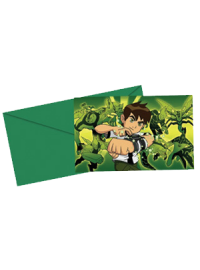 Ben 10 Invitation Cards