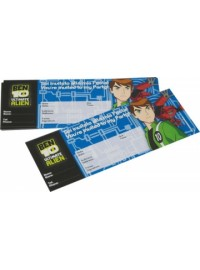 Ben 10 Ticket Invitations