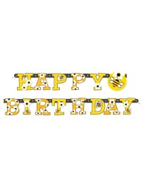 Busy Bee Happy Birthday Banner