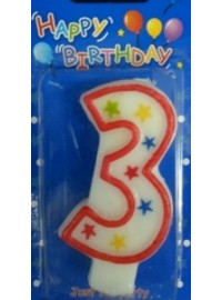 Star Number 3 Candle