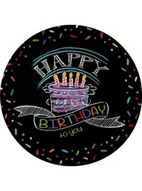 Chalk Birthday Plates