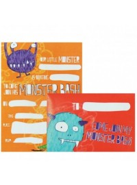 Doodle Monsters Invitations (8)