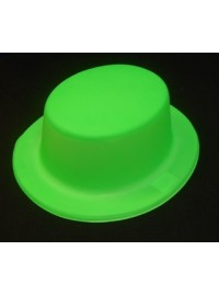 Boater Hat - Neon Green Plastic