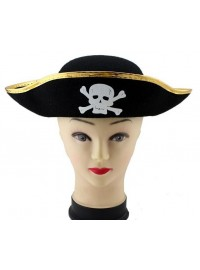 Pirate Hat - Gold Trim