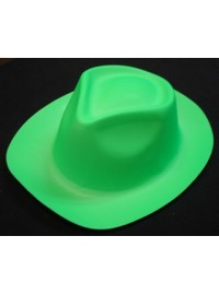 Trilby Hat - Neon Green Plastic