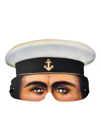 Half Face Paper Mask - Sailor