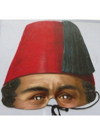 Half Face Paper Mask - Turkish Pasha