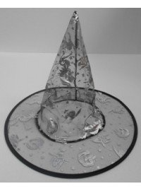 Witch Hat - Organza with Silver Print