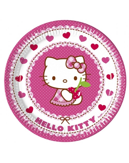 Hello Kitty Hearts Plates (8)