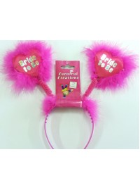 Bride to Be Hearts Headbopper with Fur